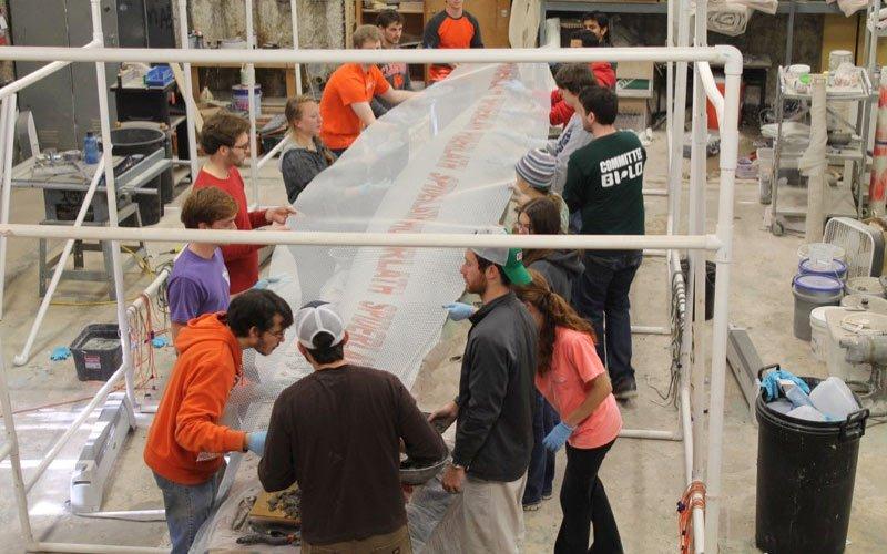 Clemson University Concrete Canoe Project